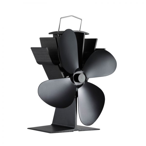 334 stove fan 4 blade heat powered