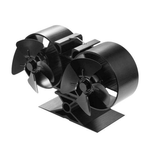 T84 twin double heat powered stove fan