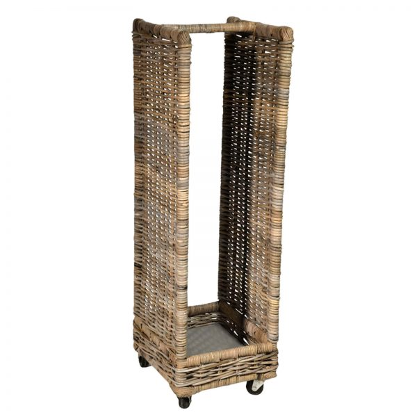 Tall log wood storage basket