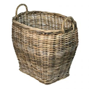 Oval log storage basket