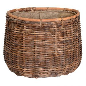 UK stove fans large oval wood storage basket