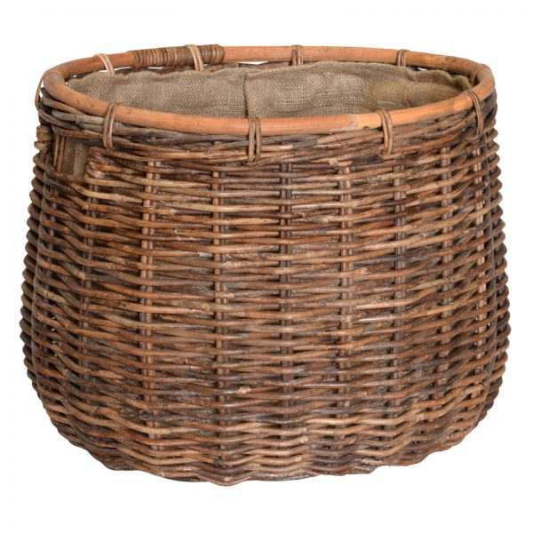 UK stove fans large oval wood storage basket
