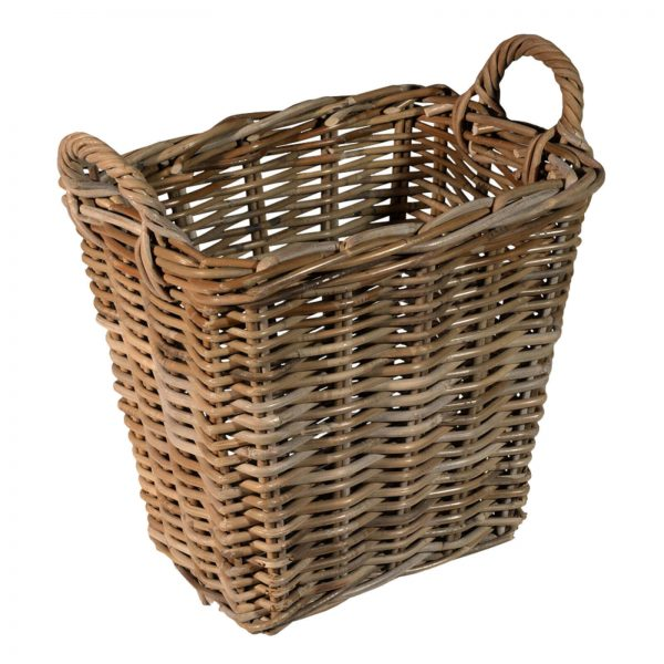 rectangle log storage basket