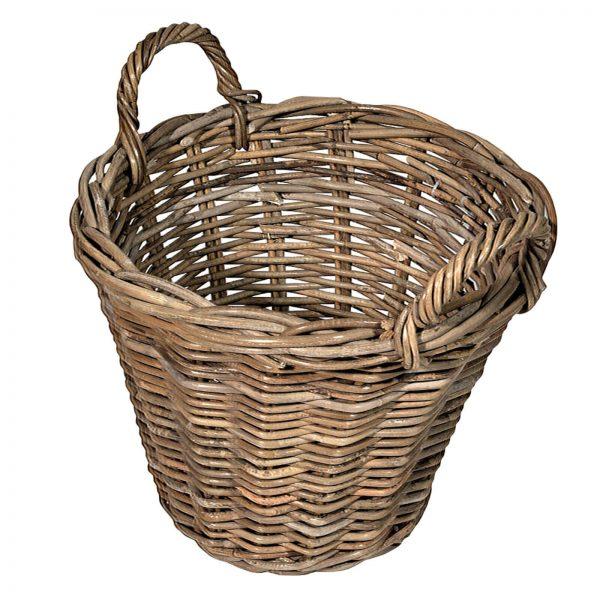 UK stove fans tapered round log basket